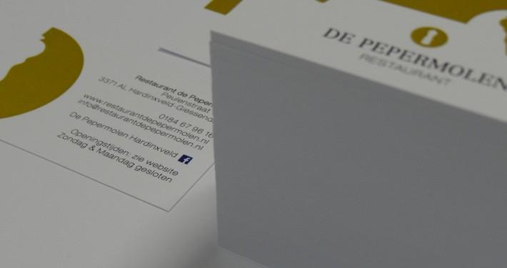 Ontwerp visitekaartje - visitekaartjes printen - Repro Rotterdam - representatie Restaurant De Pepermolen 06