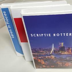 PVC kunststof ringband A4 - eigen voorkant en rug - Repro Rotterdam