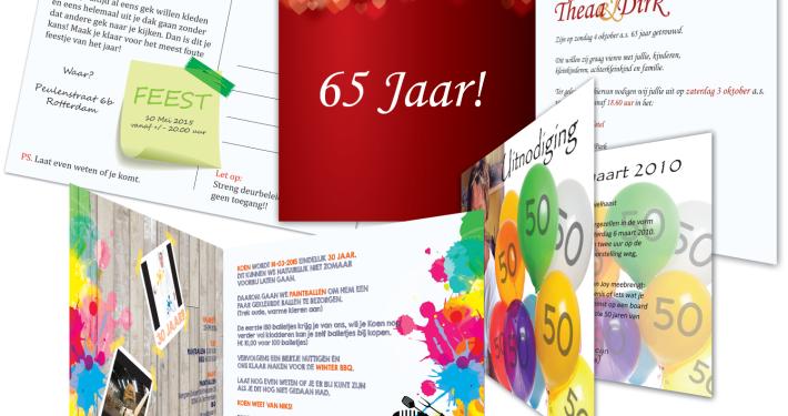 Uitnodigingen printen Rotterdam - invitaties verjaardag jubileum feestje vrijgezellenfeest - Hagero Repro 02 Rotterdam